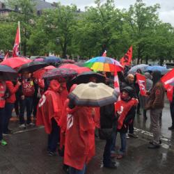 SOCIAL | Dans le cortège de la manifestation des fonctionnaires strasbourgeois