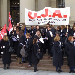 GREVE | Les avocats mobilisés &agrave Strasbourg ce mercredi