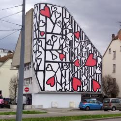 STREET ART   L'artiste Sophie Hoang-Trong habille une façade du quartier Laiterie &agrave Strasbourg