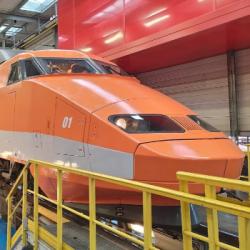 PATRIMOINE   Les adieux de la rame 01 du parc TGV au technicentre de Bischheim