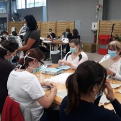 DECONFINEMENT   La production de masques bat son plein, exemple dans le Sundgau