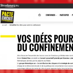 DECONFINEMENT   Les citoyens mis &agrave contribution &agrave Strasbourg pour imaginer le déconfinem