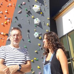 DECOUVERTE   Un mur d'escalade de 25m de haut s'installe &agrave Mulhouse