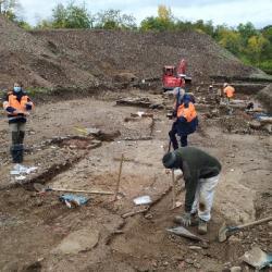 CHâTENOIS   Des fouilles archéologiques mettent au jour un moulin du XVIIe siècle